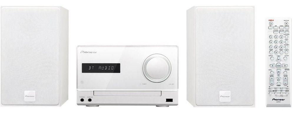 Pioneer mikro systém s CD, USB, BT, NFC bílý