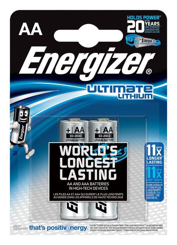 Baterie, ENERGIZER Konečný lithiové, AA, L91, 1,5 V, 2 ks
