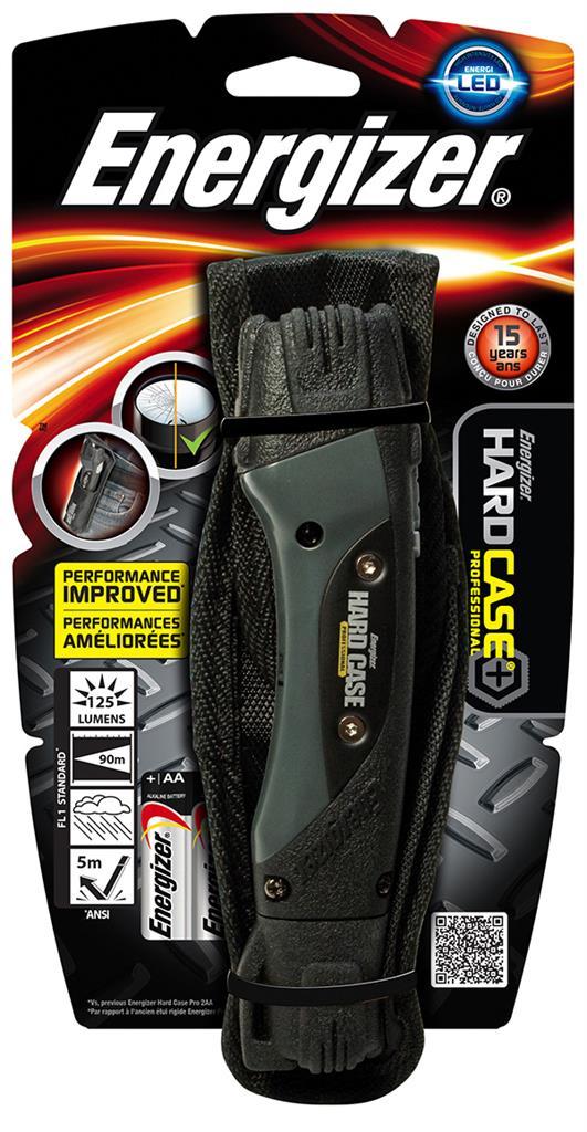 Svítilna ENERGIZER Hard Case Professional Led + dvě baterie AA, černá