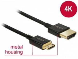 Delock Kabel High Speed HDMI s Ethernetem - HDMI-A samec > HDMI Mini-C samec 3D 4K 2 m Slim Premium