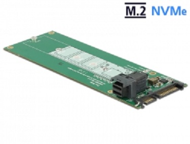 Delock Převodník SATA 22 pin / SFF-8643 NVMe > 1 x M.2 NGFF Key M