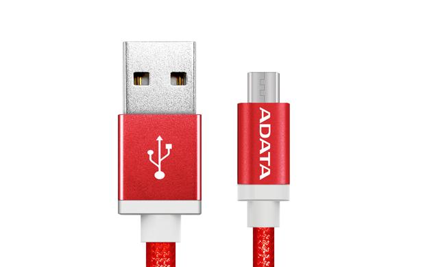 ADATA Micro USB kabel pletený 1m červený
