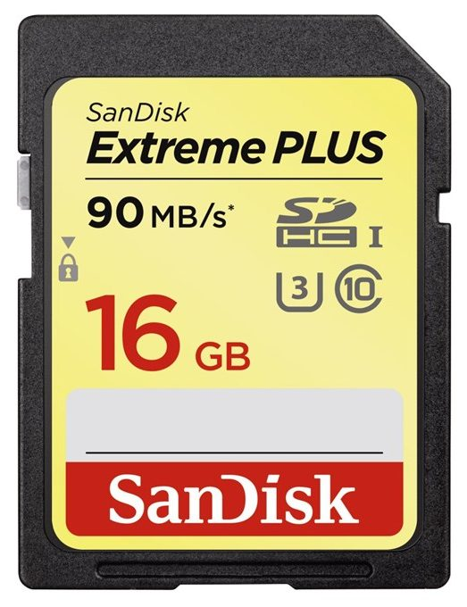 SanDisk Extreme Plus SDHC 16 GB 90 MB/s Class 10 UHS-I
