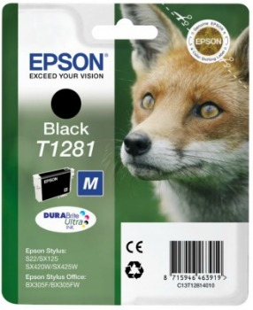 Inkoust Epson T1281 black | Stylus S22/SX125/SX425W/BX305F