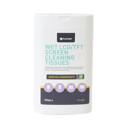PLATINET mokré ubrousky na CLD/TFT obrazovky 100ks