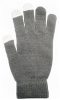 Aligator rukavice na kapacitní dotykový displej, dámské, šedá