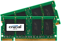SO-DIMM kit 4GB DDR2-800 MHz Crucial CL6, 2x2GB