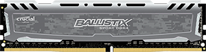 16GB DDR4 - 2400 MHz Crucial Ballistix Sport Grey CL16 DR x8 DIMM