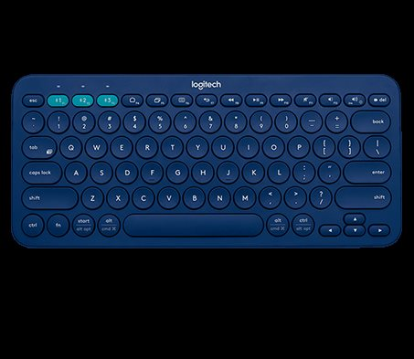 Logitech kláv. Bluetooth Multi-Device Keyboard K380 US, modrá
