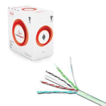 Gembird FTP kabel drát, cat. 6, 305m, šedý