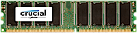 1GB DDR-400MHz Crucial CL3 UDIMM