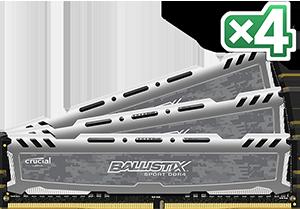 Crucial Ballistix Sport LT 4x8GB 2400MHz DDR4 CL16 UDIMM 1.2V