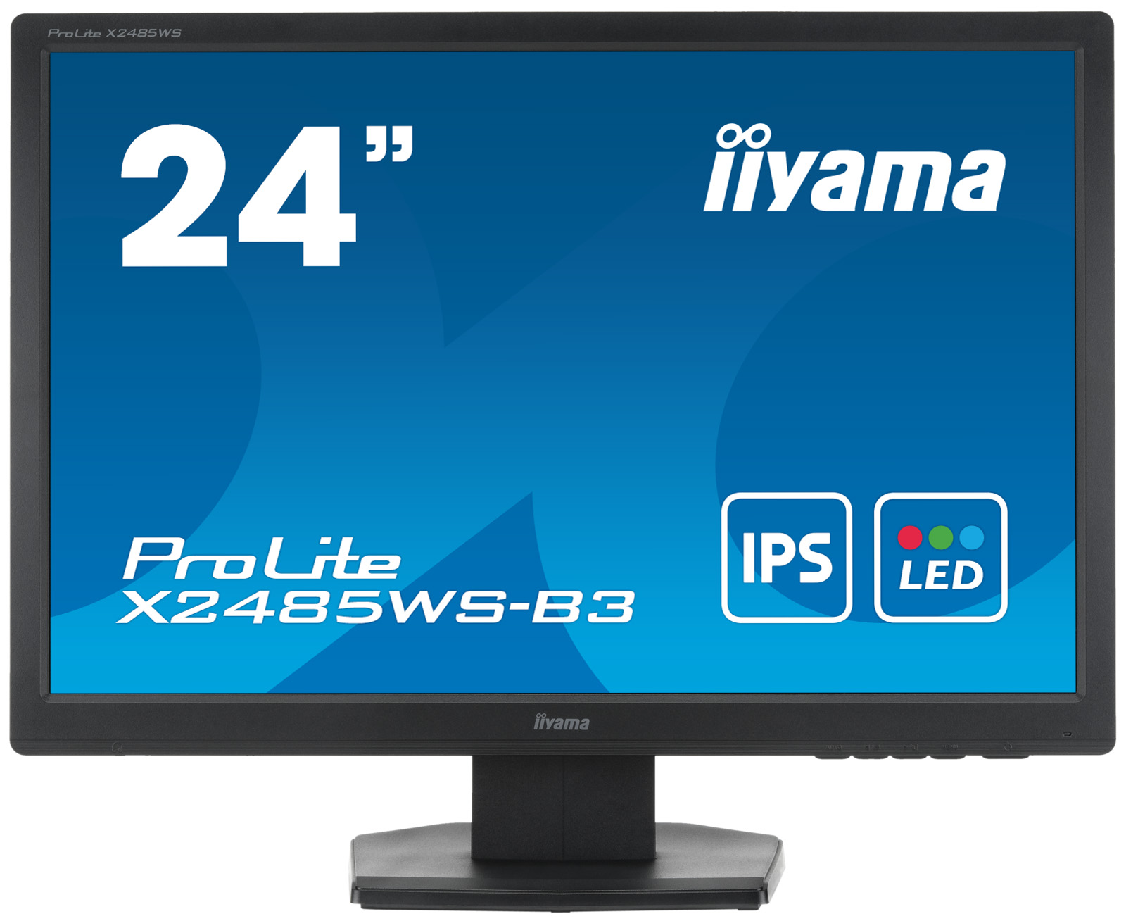 "24"" LCD iiyama X2485WS-B3 -IPS,16:10,4ms,250cd,VGA,DVI-D,DP,repro"
