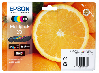 EPSON Multipack 5-colours 33 Claria Premium Ink