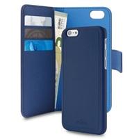 Puro flipové pouzdro s přihrádkou na kartu a zadní kryt pro Apple iPhone 6/6s, modrá