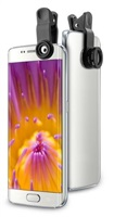 Puro Easy Foto 2, sada objektivů pro smartphony a tablety (1x Macro, 1x širokoúhlý)