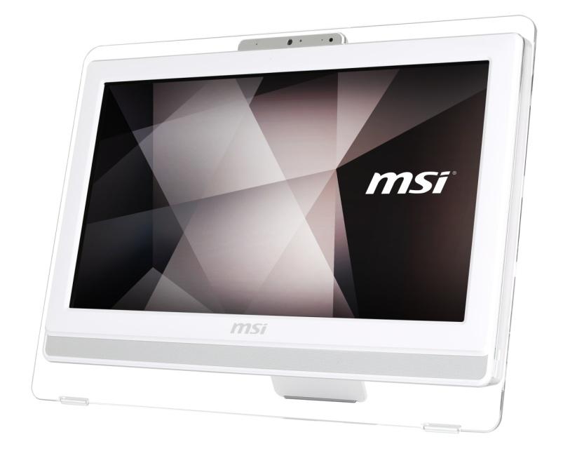 """MSI AIO Pro 22ET 6M-001EU White 21,5"""" FHD Multi Touch/i3-6100 (3.70 GHz)/4GB/1TB 7200 ot./Intel® HD 530/DVDRW/Win 10"""