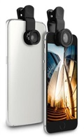 Puro Easy Foto 3, sada objektivů pro smartphony a tablety (1x rybí oko, 1x Macro, 1x širokoúhlý)