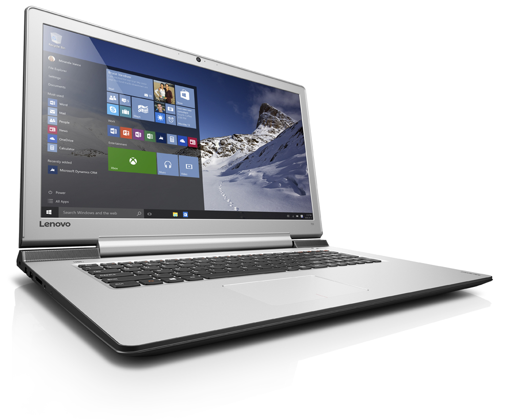 "Lenovo IdeaPad 700-17ISK i7-6700HQ 3,50GHz/8GB/SSD 128GB+1TB HDD/17,3"" FHD/IPS/AG/GeForce 2GB/WIN10 černá 80RV001QCK"