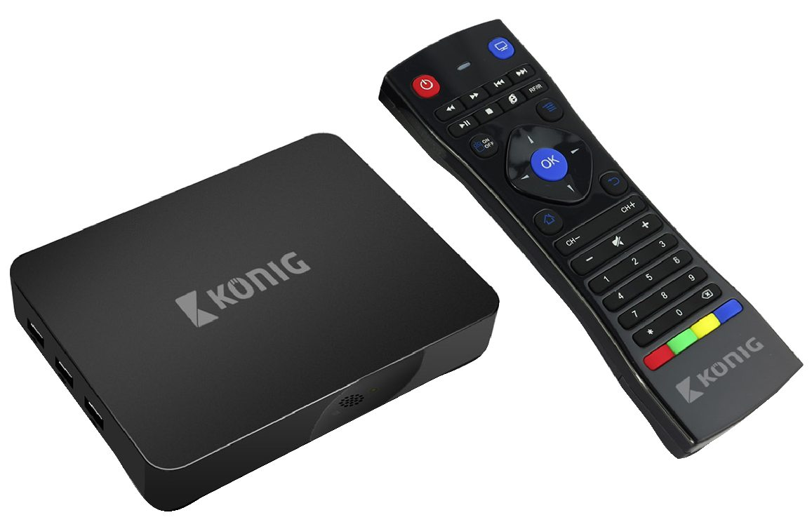 Konig 4K smart TV box se systémem Android™, 4K, 3D, 5G, Wi-Fi