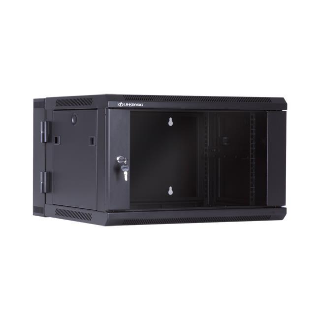 Linkbasic závěsná skříně dvě části 19'' 6U 600x550mm - černá