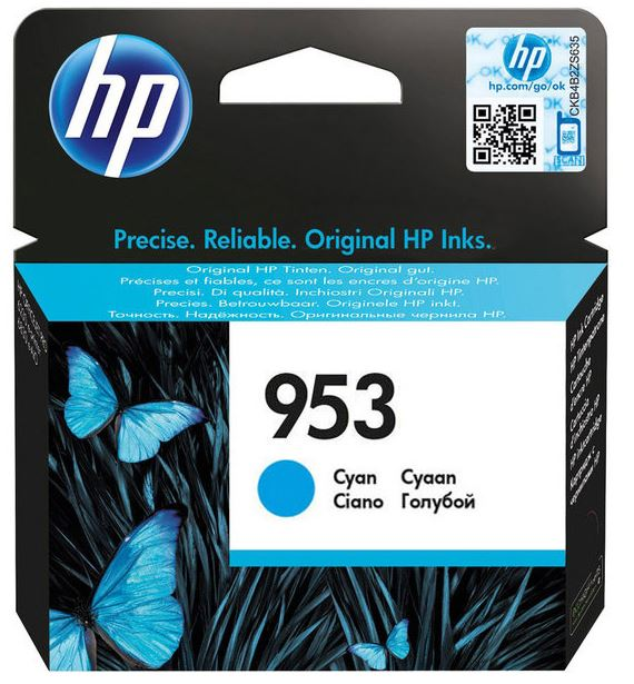 HP F6U12AE 953 Cyan Original Ink Cartridge