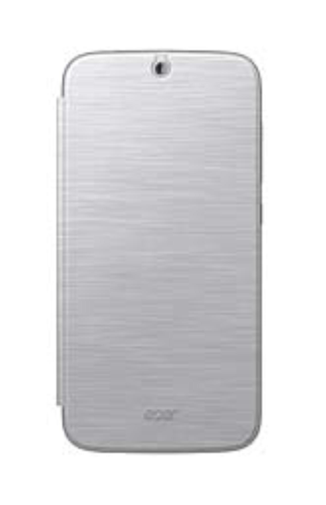 Flip cover pro telefon Acer Z630, stříbrný