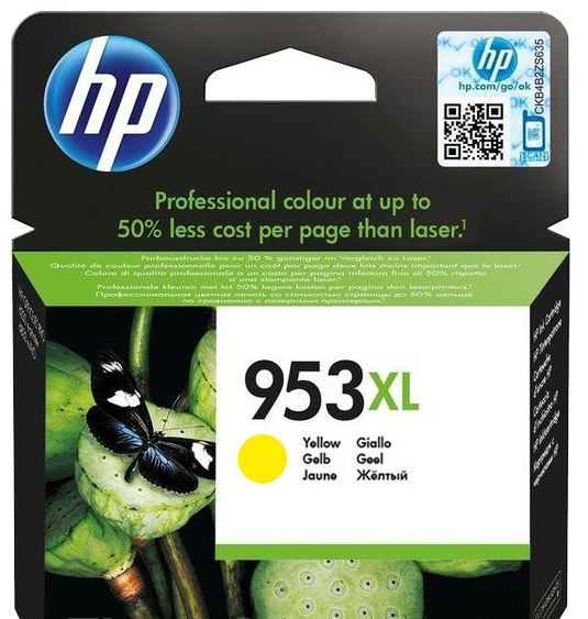 HP F6U18AE 953XL High Yield Yellow Original Ink Cartridge