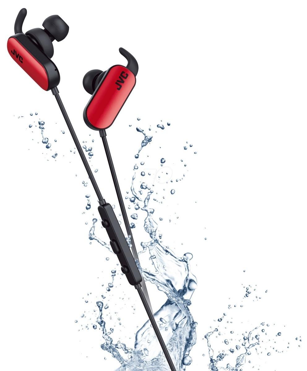 Sluchátka JVC HA-EBT5 - červená