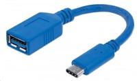 MANHATTAN Kabel USB 2.0 A - USB 3.1 C (F/M), modrý