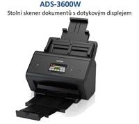 Brother ADS-3600W vysokorychlostní oboustranný skener dokumentů, dotyk. LCD, ethernet, WiFi