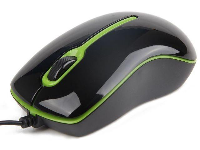 Gembird optická myš 1000 DPI, USB, černo-zelená