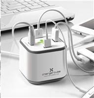E-Pad CHARGERCUBE napájecí adaptér, bílý, 4xUSB 8,6A, iPod, iPhone, iPad
