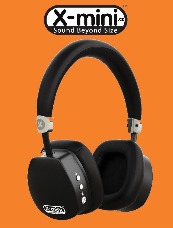 X-mini ™ ESCAPE stereo sluchátka s mikrofonem Bluetooth 4.0, HEAVY DUTY-18 hodin na baterii