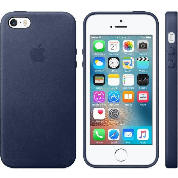 Apple iPhone 5/5S/SE Leather Case Midnight Blue