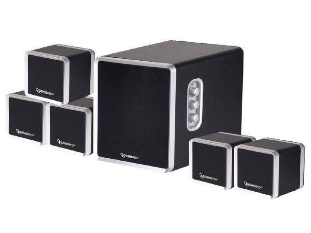Gembird Multimediální Stereo Reproduktory 5.1, 1500W PMPO, dřevěný povrch