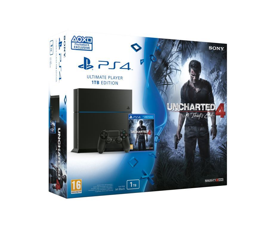 SONY PlayStation 4 - 1TB + Uncharted 4: A Thief's End