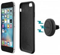 Puro držák do auta do mřížky ventilátoru s magnetickým krytem pro Apple iPhone 6/6s, černá