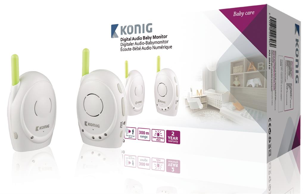 Koenig Digitální dětská audiochůvička, 2,4 GHz
