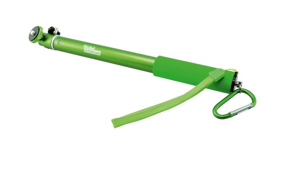 Rollei Prodlužovací tyč pro kamery Rollei Actioncam s kulovou hlavou/ Délka 30-95 cm/ Zelená
