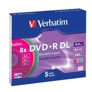 VERBATIM DVD+R(5-pack)DoubleLayer/Slim/8.5GB/8X