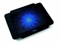 """OMEGA chladič pod notebook BREEZE, pro notebooky 10 - 15,6"""", 14cm ventilátor, USB port, černý"""