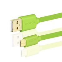 AXAGON HQ Kabel Micro USB, 2A, zelený, 0.2 m