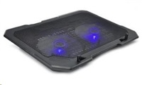 """OMEGA chladič pod notebook ARCTIC, pro notebooky 10 - 17"""", 2x 14cm ventilátor, 2x USB port"""