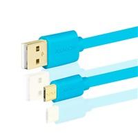 AXAGON HQ Kabel Micro USB, 2A, modrý, 0.2 m