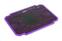 """OMEGA chladič pod notebook ICE BOX, pro notebooky 10 - 17"""", 14cm ventilátor, 2x USB port, fialový"""