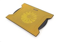 """OMEGA chladič pod notebook CHILLY, pro notebooky 10 - 15,6"""", 16cm ventilátor, 4x USB port, žlutý"""