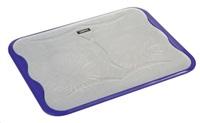 """OMEGA chladič pod notebook ICE CUBE, pro notebooky 10 - 17"""", 2x 14cm ventilátor, 2x USB port, fialový"""