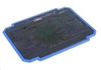 """OMEGA chladič pod notebook ICE BOX, pro notebooky 10 - 17"""", 14cm ventilátor, 2x USB port, modrý"""