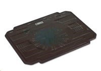 """OMEGA chladič pod notebook ICE BOX, pro notebooky 10 - 17"""", 14cm ventilátor, 2x USB port, černý"""